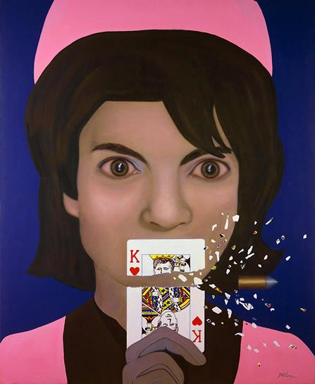 Jackie-O Onasis Kennedy art Tina Mion, La Posada Hotel Winslow, AZ